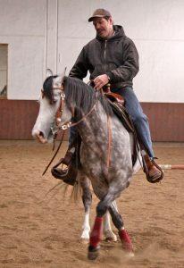 Ballermann Mitch mit Trainer A Ralf Seedorf Foto: Ballermann Ranch / A. Iburg