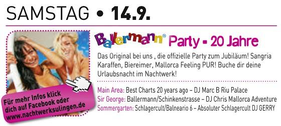 20 Jahre Ballermann: 1. Jubiläumsparty In Sulingen (NS)