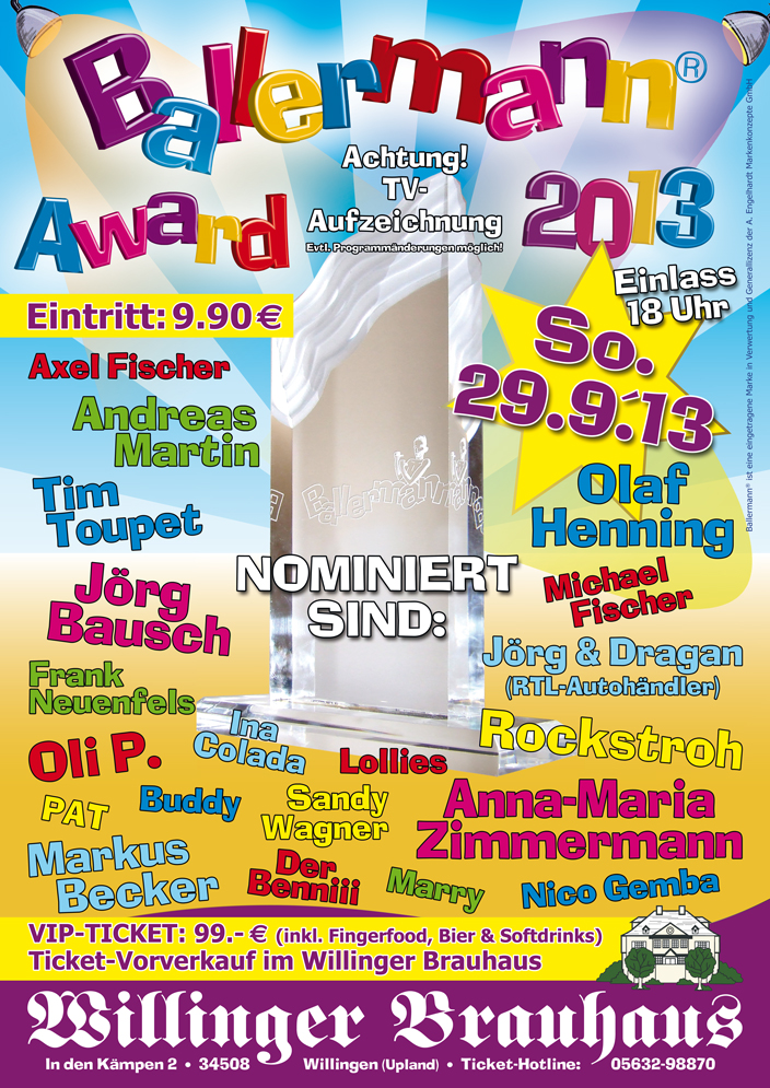 BALLERMANN AWARD 2013 – Wieder In Willingen