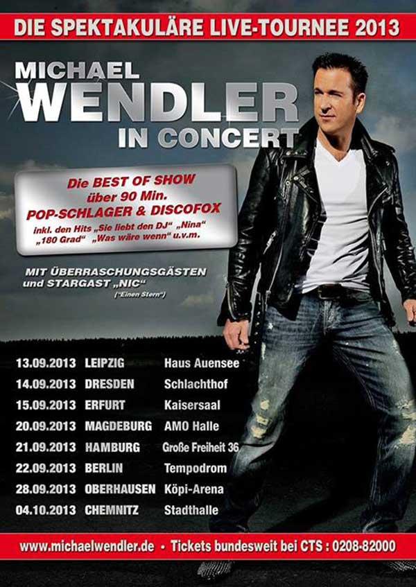 """Ballermann-Radio Präsentiert Die """"Michael Wendler – Best Of Tour 2013 """""""