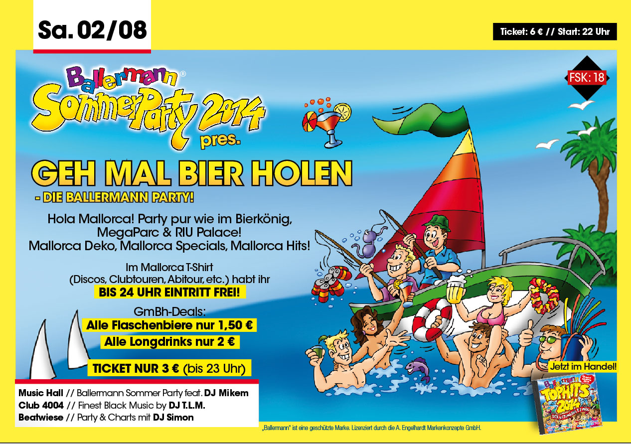 Geh Mal Bier Holen – DIE BALLERMANN-SOMMERPARTY 2014