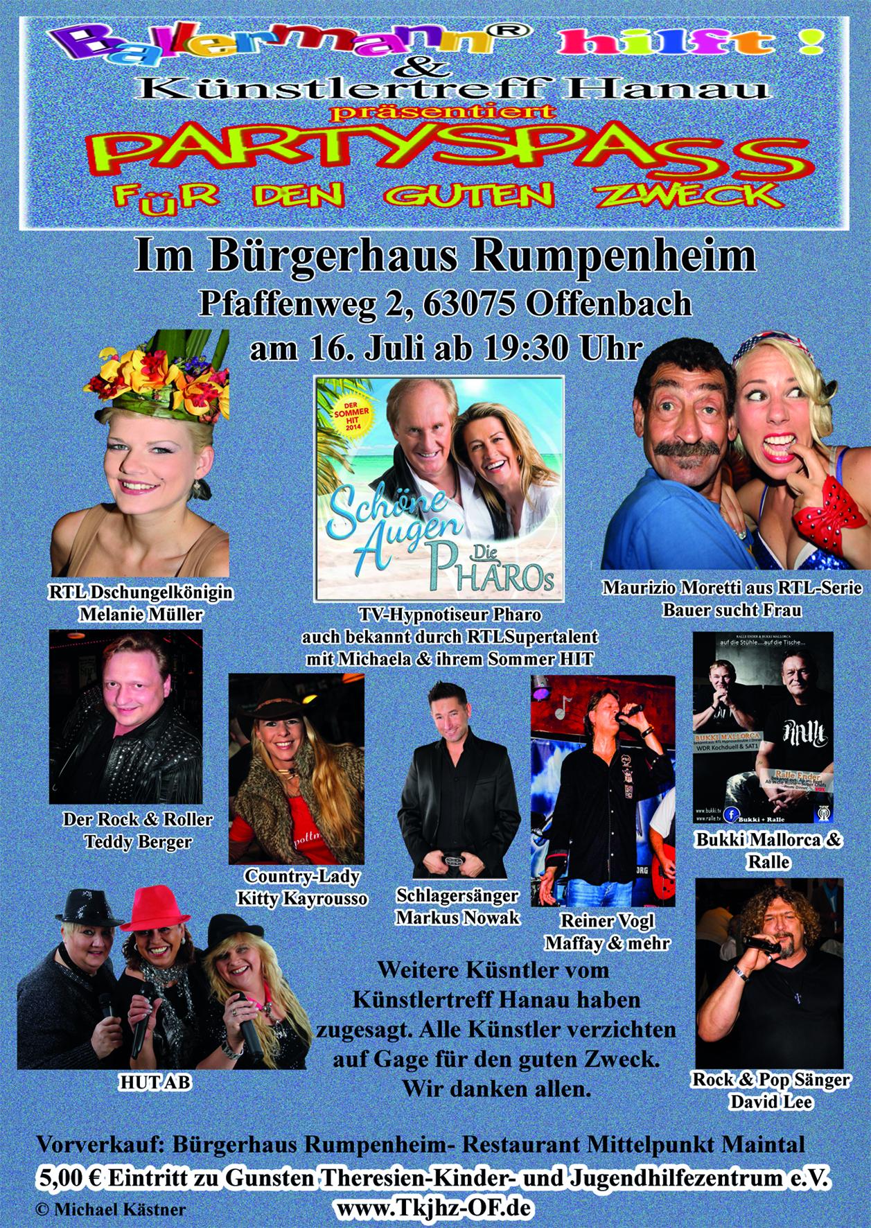 BALLERMANN Hilft! – Charity Zugunsten Des Offenbacher Theresien-Kinder-und Jugendhilfezentrums