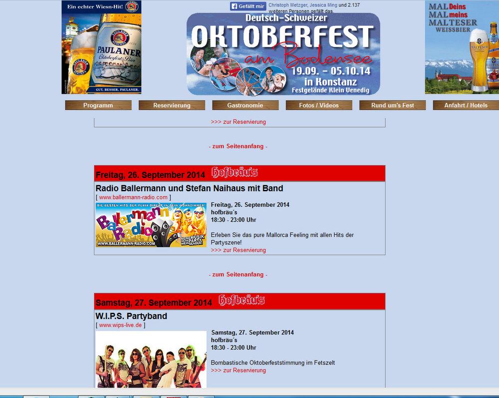 """Ballermann Radio Party Beim """"Oktoberfest Am Bodensee"""""""