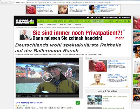 Kleiner TV-Dreh Auf Der Ballermann Ranch