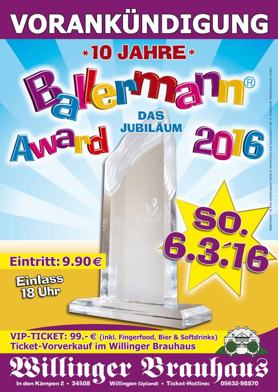 10 Jahre BALLERMANN AWARD – Das Jubiläum!