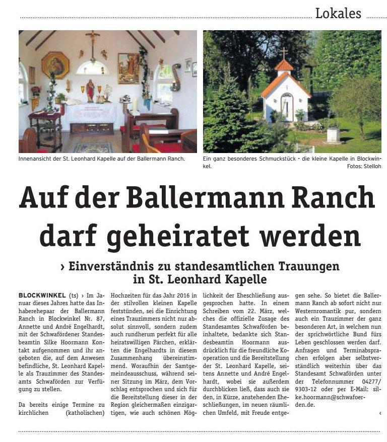 Heiraten Auf Der BALLERMANN RANCH