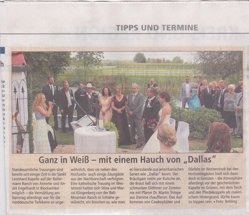 Kreiszeitung Sulingen, 07.09.2016 (Red. Andreas Behling)