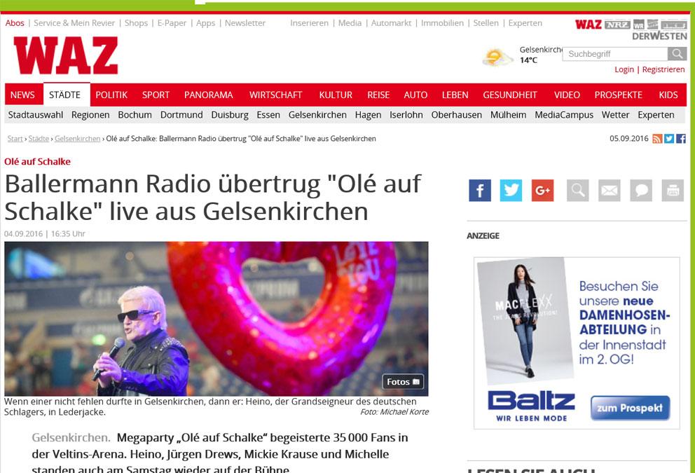 BALLERMANN RADIO – Live Aus…
