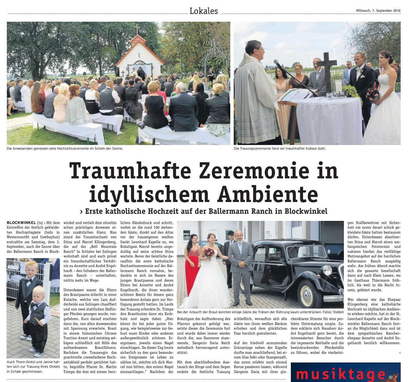 DIE WOCHENPOST, 07.09.2016 (Red. Tanja Stelloh)
