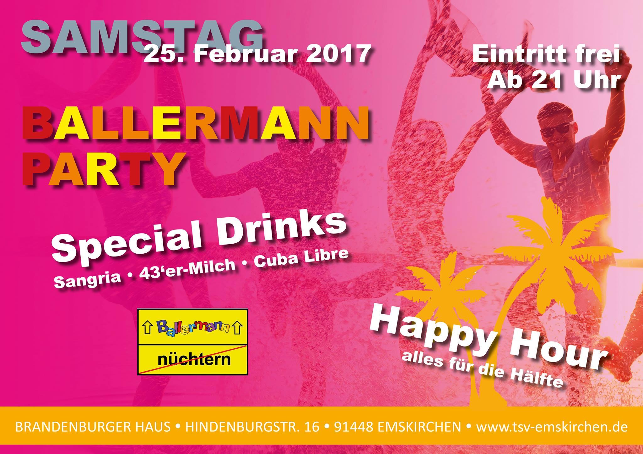 BALLERMANN PARTY Beim TSV