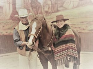 """Annette und Andre Engelhardt mit """"Socke"""" - Ballermann Ranch, Blockwinkel (Gemeinde Scholen)"""