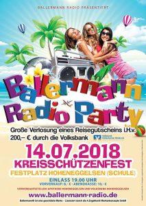 Ballermann Radio meets Kreisschützenfest Hoheneggelsen 2018
