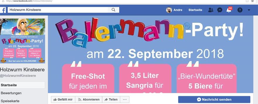 Ballermann-Party Im Holzwurm