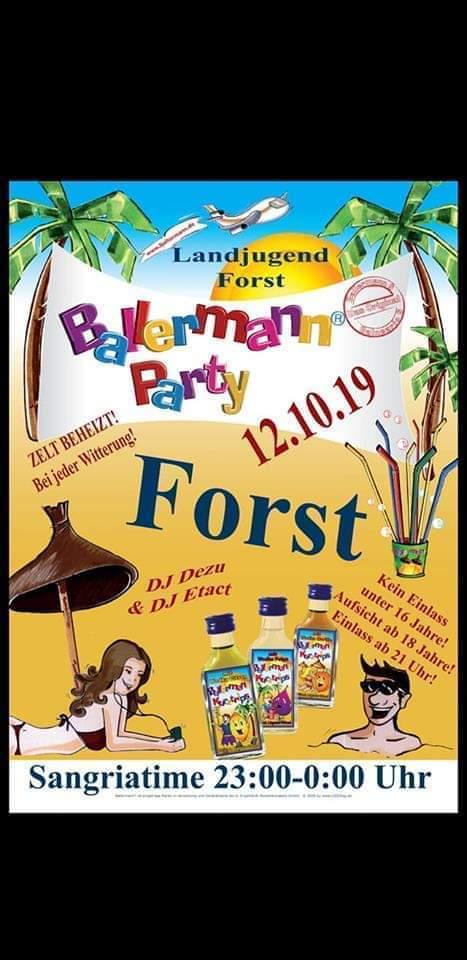 Legendäre BALLERMANN Party