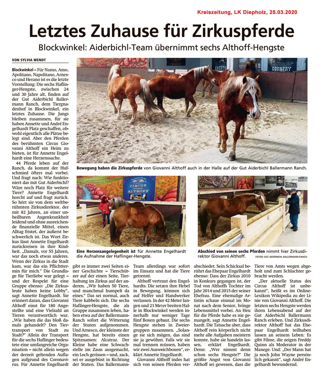 Sulinger Kreiszeitung, 25.03.2020