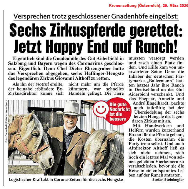 Kronenzeitung (Österreich), 29.03.2020