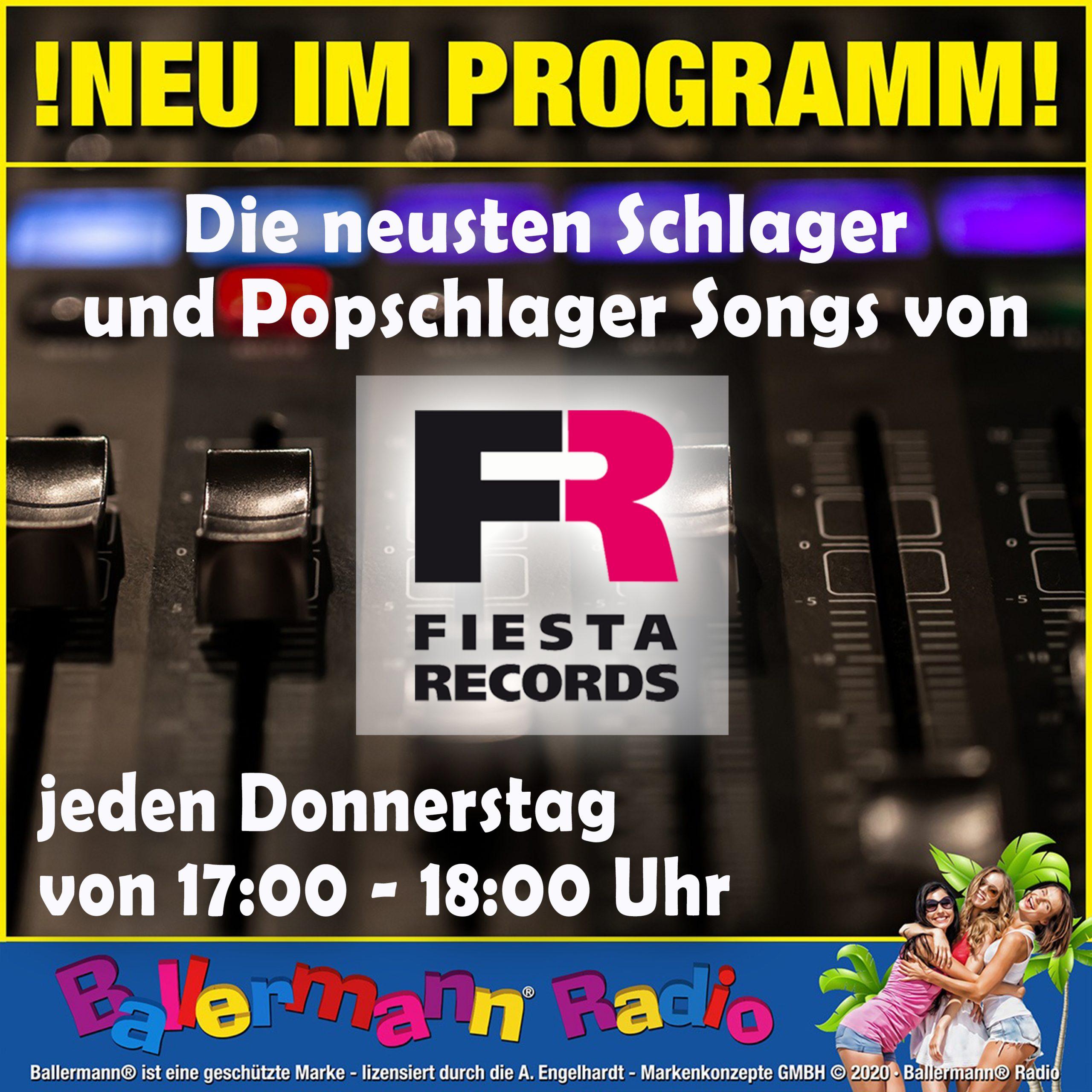 Ballermann Radio: Neue Labelstunde Mit Fiesta Records
