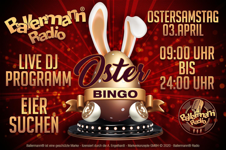 Tolles Oster-Bingo Powered By Ballermann Radio & Kölle Feiert