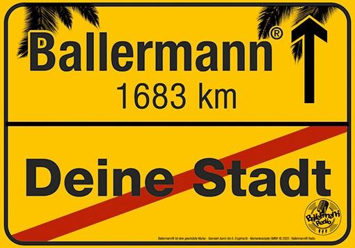 Wahrer Verkaufsschlager: Ballermann Ortsschild – Nur Im Ballermann Shop!