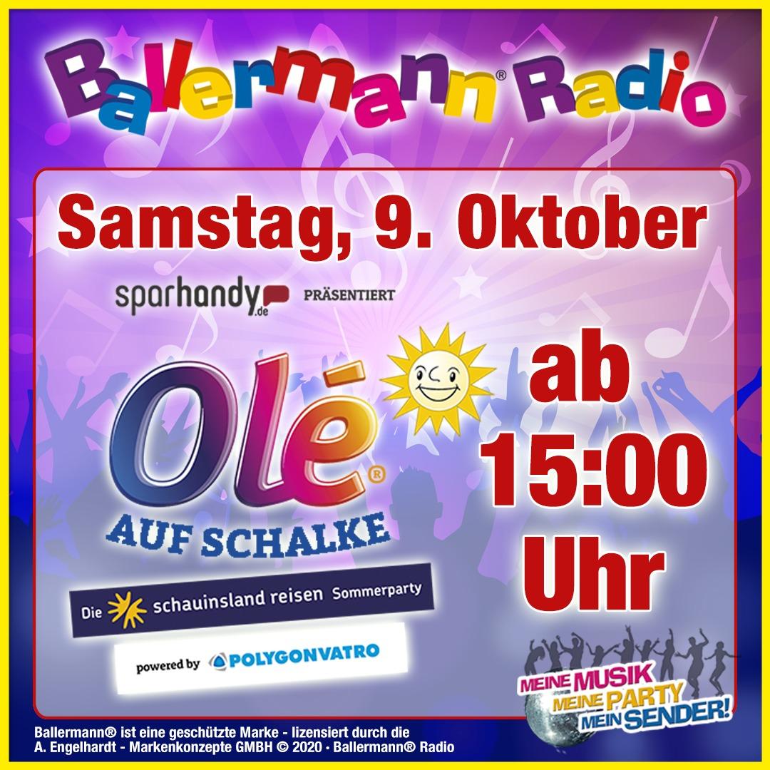 Olé-Party Auf Schalke: Festival Sommer Bei Ballermann Radio Mit Verlosung